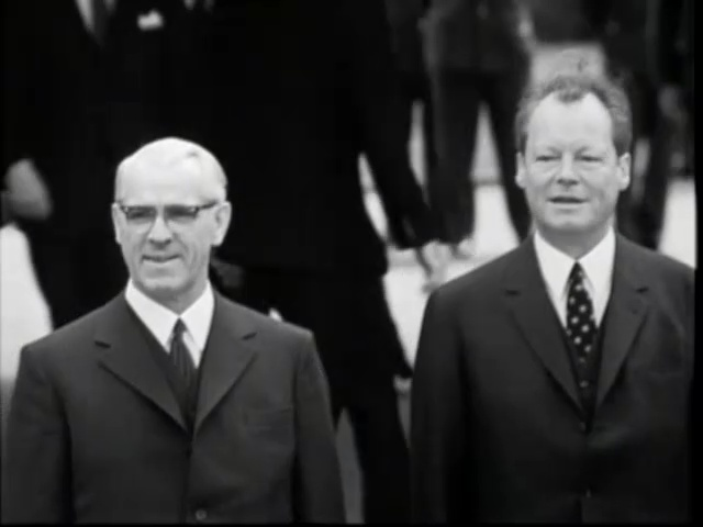 Second meeting of Willy Brandt and Willi Stoph in Kassel, 21 May ...
