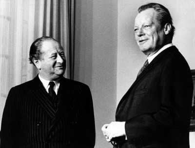 Foreign Minister And Federal Chancellor In Bonn Willy Brandt
